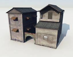 Blocks village1 3D model