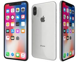 3D Apple iPhone X Silver