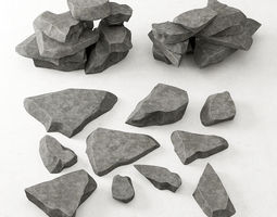 3D Rock stone collection n7