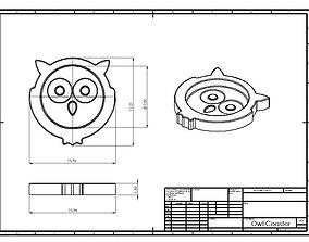 3D printable model Owl Coaster