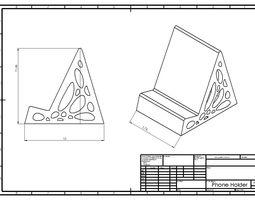 3D printable model Phone Holder space