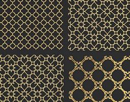 future 3D Collection of golden lattice