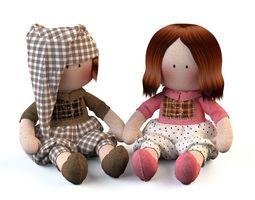 3D Textile doll Tilda toy