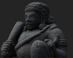 Low Poly PBR Dwarapala Statue 3D model