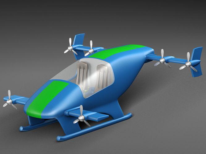 flying car prototype 3d model max obj mtl fbx c4d 1