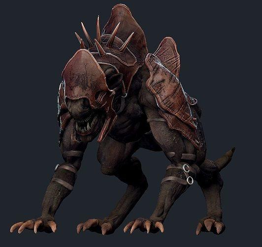 creature mount 3d model ztl 1