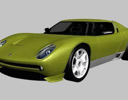 Lamborghini Miura Concept 2006 3D asset