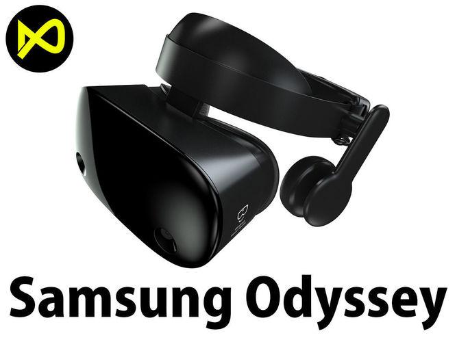 samsung odyssey windows mixed vr headset 3d model max obj mtl 3ds fbx c4d lwo lw lws 1