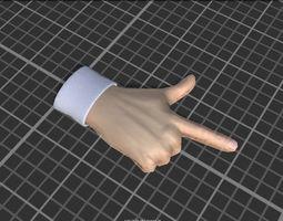 3D model Cartoon Hands - animated