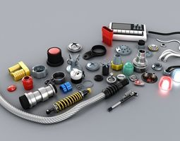Electronic Technic Parts 3D