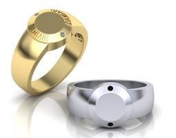 Men signet ring Damiani 3D printable model