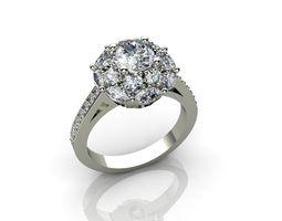 Vintage Style Engagement Diamond Rings 3D print model