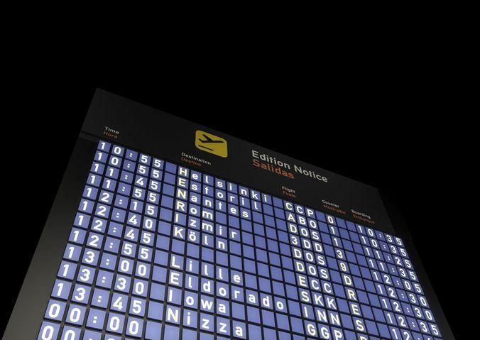 timetable airport 3d model c4d 1