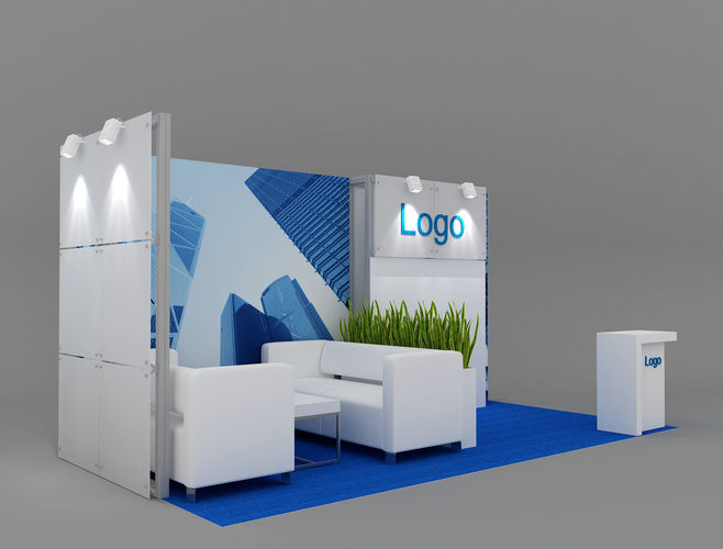 Exhibition Booth Obj : Exhibition stand m d model cgtrader