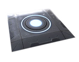 3D model realtime Sci-fi Platform - Low Poly