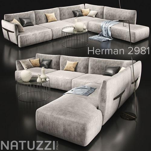 Sofa natuzzi herman 2981 3d cgtrader - Sofas natuzzi precios ...
