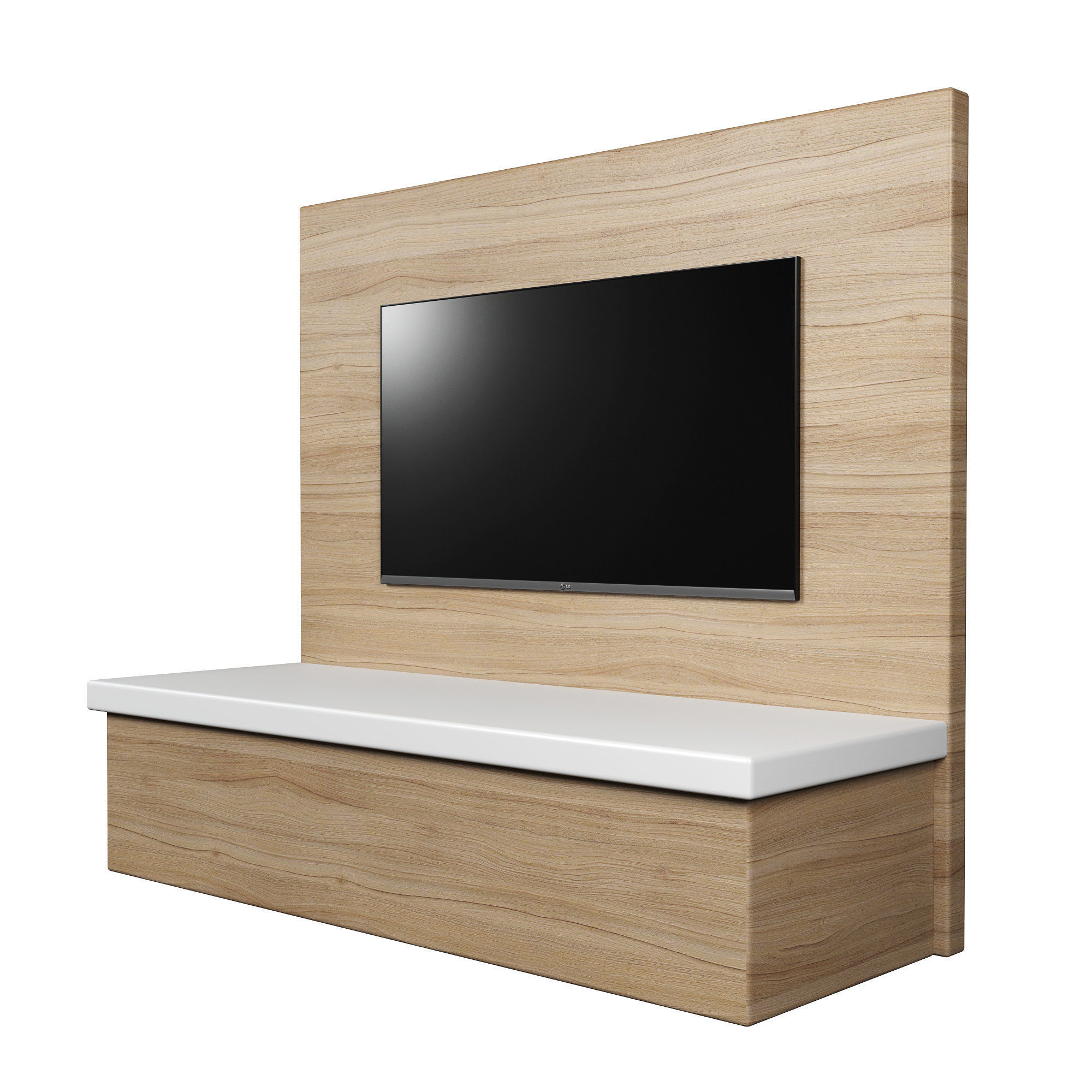 Tv Wall Panel With A Flat Screen Model