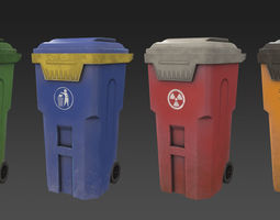 Trash Can 3D asset