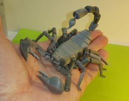 3D printable model creature Scorpion