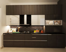 modular contemporory KITCHEN 3D