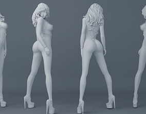 Belt girl 003 3D printable model