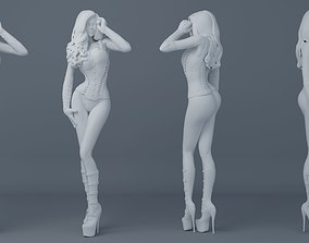 3D print model Sexy girl wearing leather 001