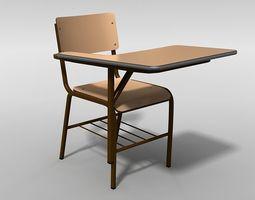3D model School Chair desk