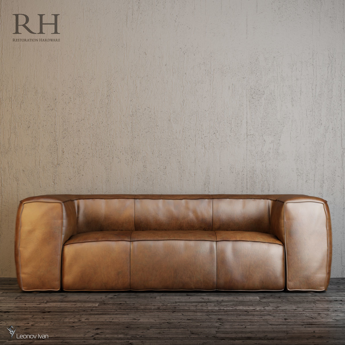 - Leather FULHAM LEATHER SOFAS 3D CGTrader