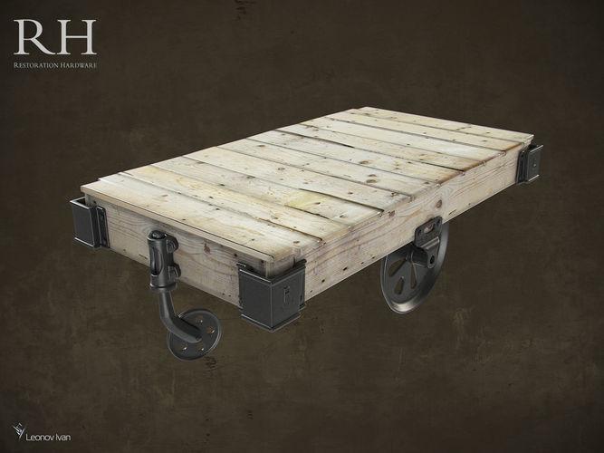 Ordinaire Furniture Factory Cart 3D Model