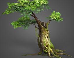 Game Ready Low Poly Tree 04 3D model