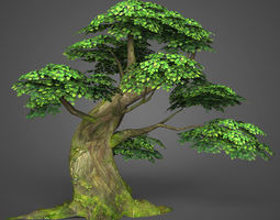 3D model Game Ready Low Poly Tree 06