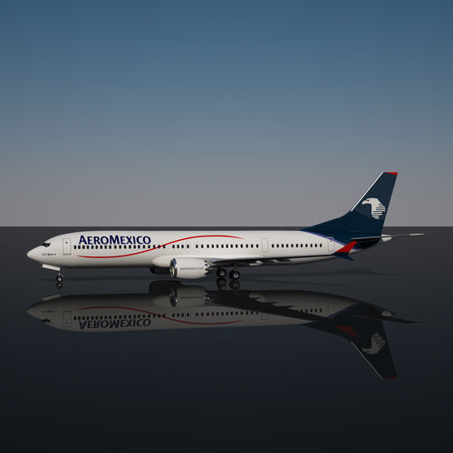 Aeromexico boeing 737 max 9 3d model cgtrader for Aeromexico interior 737