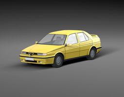 Low-poly car Alfa Romeo 3D model