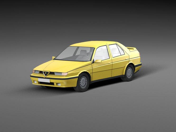 Low Poly Car Alfa Romeo 3d Model Cgtrader