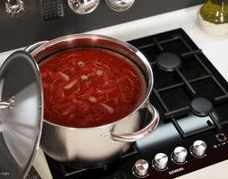 3D Food Soup