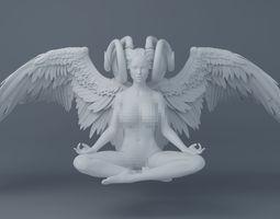 3D printable model Sexy dark angel wings
