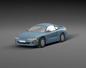 3D asset Low-poly car Mitsubishi Eclipse