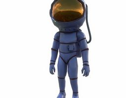 woman astronaut 3D asset animated
