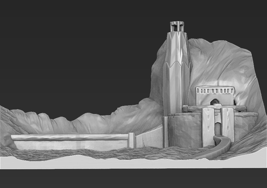 Helms Deep the Lord of the Rings 3D printable