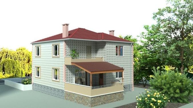 architecturing modern villa house 3d model blend 1