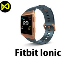 3D model Fitbit Ionic Slate Blue