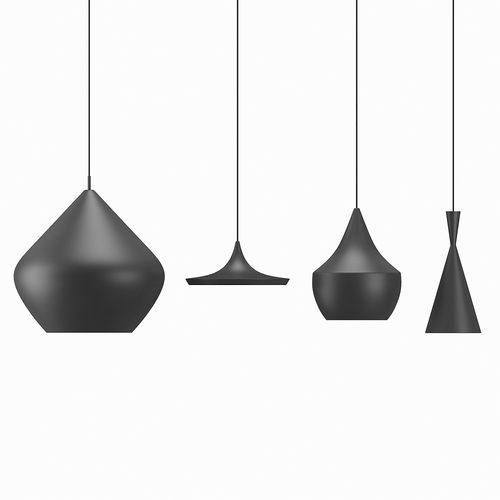 tom dixon beat lamps 3d model low-poly max obj mtl 3ds fbx 1