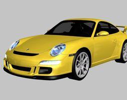 Porsche 911 GT3 997 3D asset