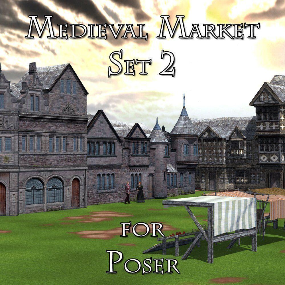 Medieval Market 2 for Poser   3D model