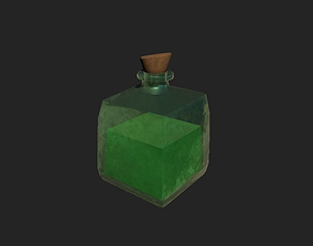 RPG Health-Mana-Stamina Realistic Potion 3D asset
