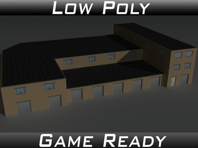 factory building 35 3d model obj 3ds fbx mtl 1