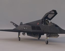 Stelth F-117 Night Hawk 3D asset