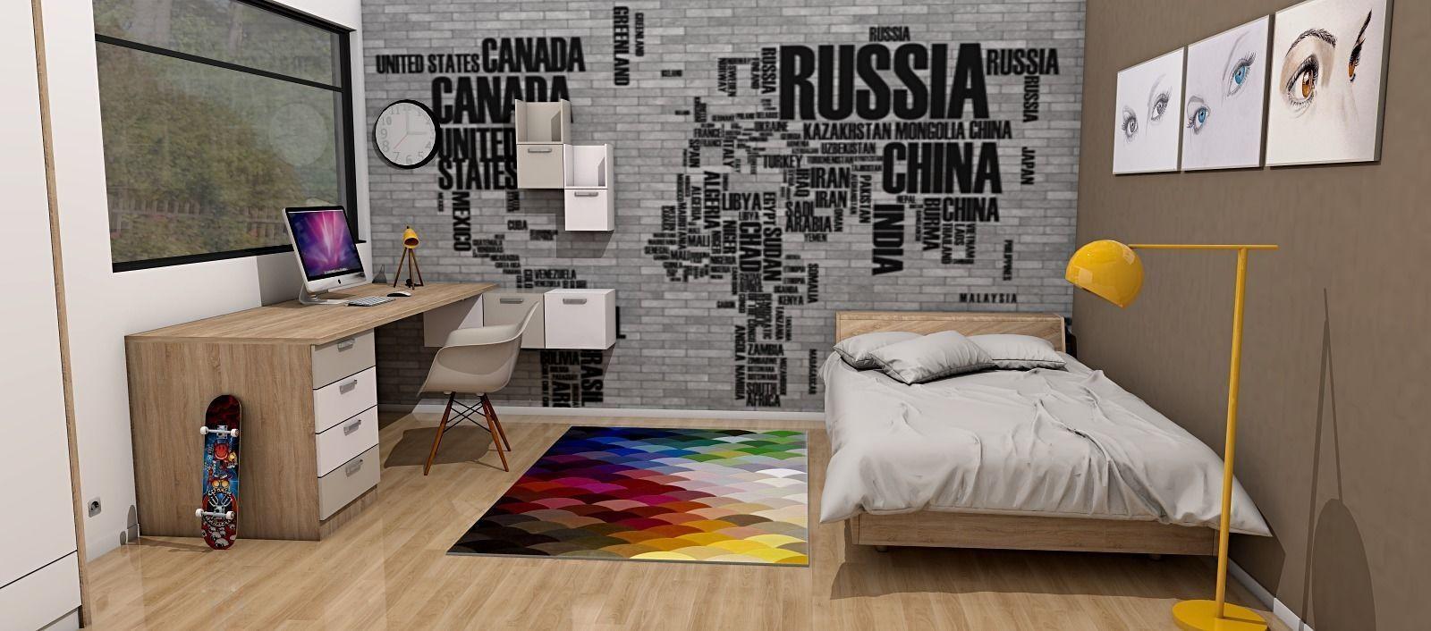 modern teenage room 3D model   CGTrader