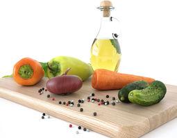 3D Kitchen decore set vegetables