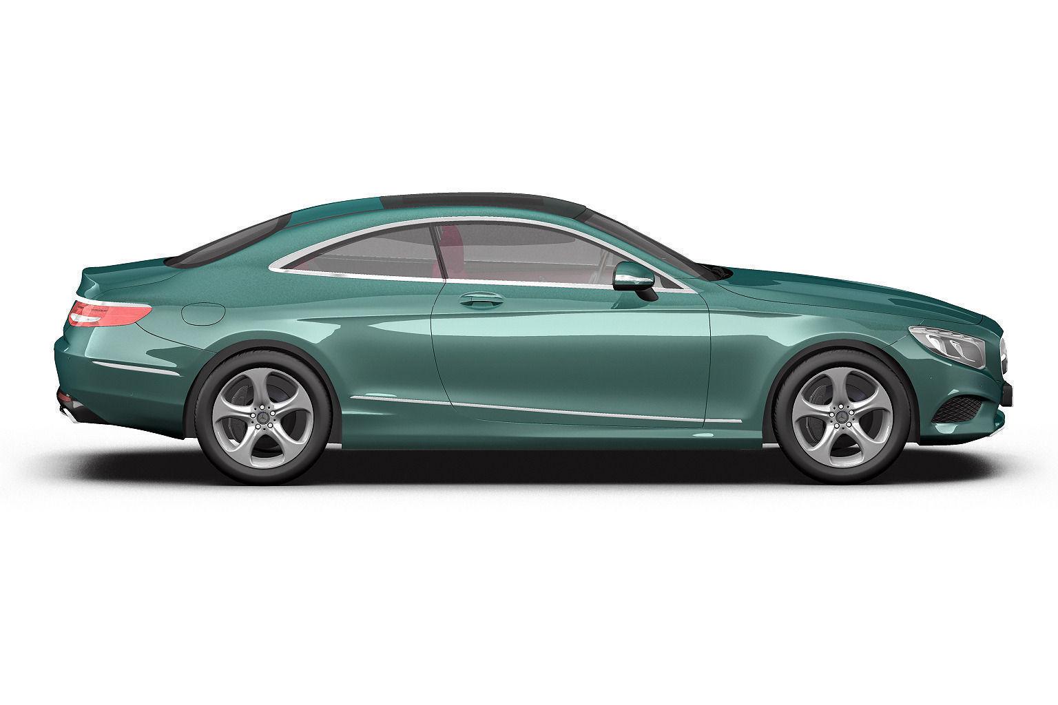 2014 mercedes benz s class coupe 3d model max obj 3ds fbx for Mercedes benz coupe models